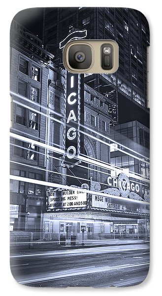 Chicago Theater Marquee B And W Galaxy Case by Steve Gadomski