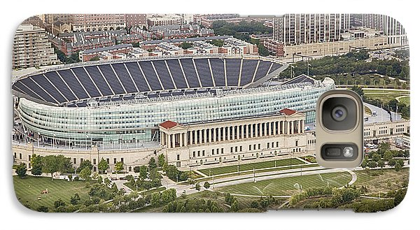 Galaxy Case featuring the photograph Chicago's Soldier Field Aerial by Adam Romanowicz