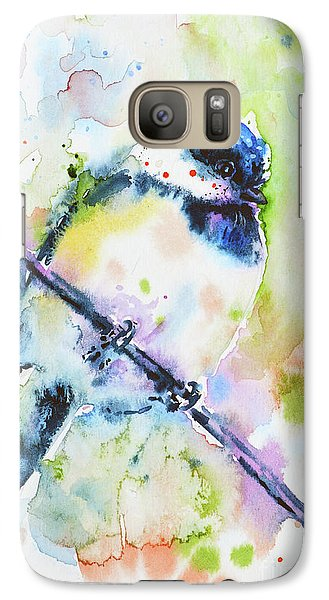 Galaxy Case featuring the painting Chick-a-dee-dee-dee by Zaira Dzhaubaeva