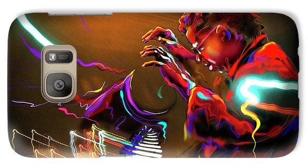 Galaxy Case featuring the painting Chick Corea by DC Langer