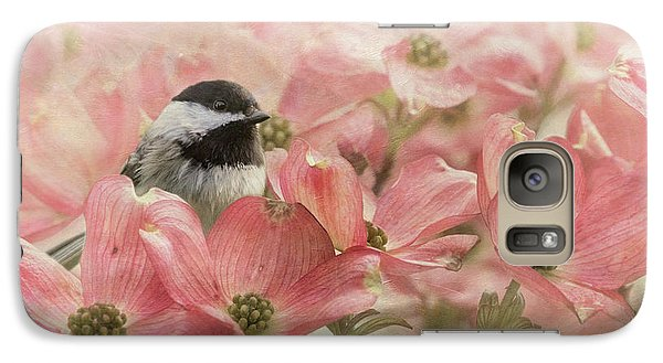 Galaxy Case featuring the photograph Chickadee In The Dogwood by Angie Vogel