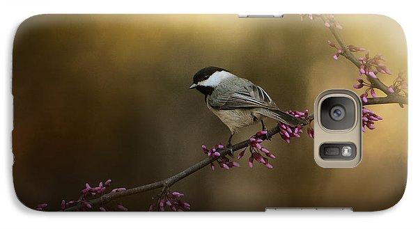 Chickadee In The Golden Light Galaxy S7 Case by Jai Johnson