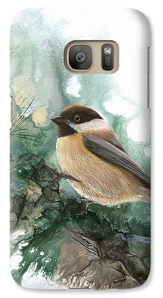 Galaxy Case featuring the painting Chickadee by Sherry Shipley