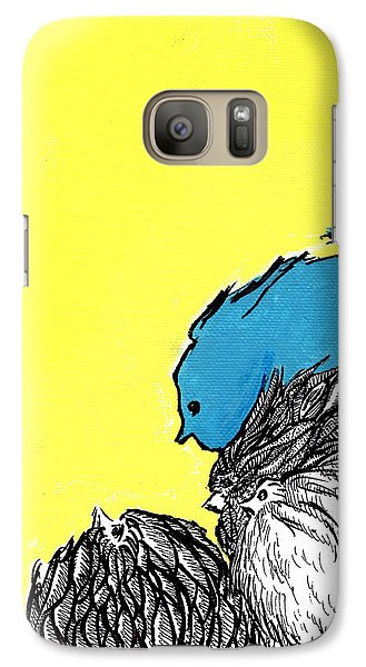 Galaxy Case featuring the painting Chickens One by Jason Tricktop Matthews