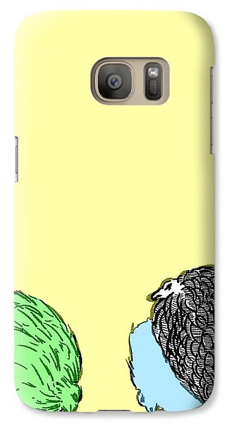 Galaxy Case featuring the painting Chickens Three by Jason Tricktop Matthews