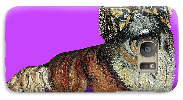 Galaxy Case featuring the pastel Chien Chien Pekingese by Ania M Milo