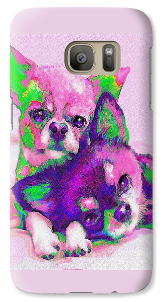 Galaxy Case featuring the digital art Chihuahua Love by Jane Schnetlage