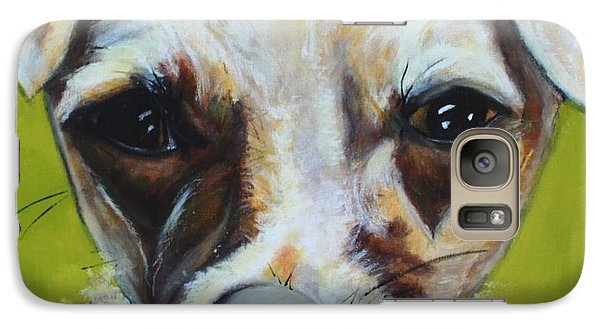 Galaxy Case featuring the painting Chihuahua Mix- Roxie by Laura  Grisham
