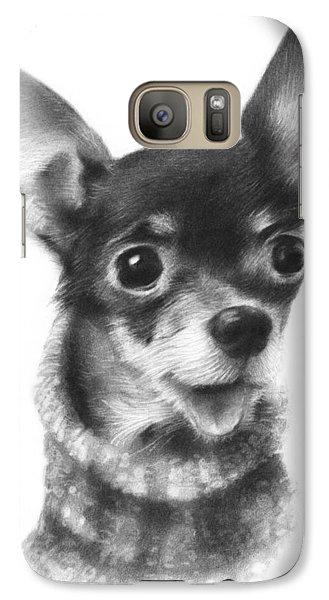 Galaxy Case featuring the drawing Chihuahua Pup by Natasha Denger