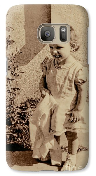 Galaxy Case featuring the photograph Child Of 1940s by Linda Phelps