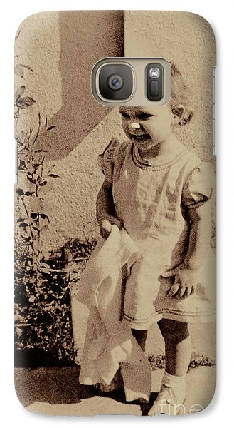 Galaxy Case featuring the photograph Child Of  The 1940s by Linda Phelps