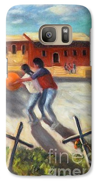 Galaxy Case featuring the painting Tres Cruces De La Juventud Y La Vejez by Randol Burns
