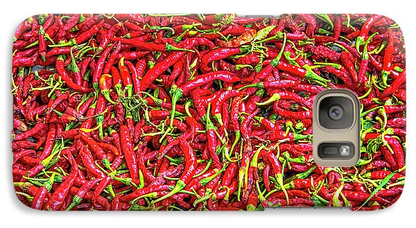 Galaxy Case featuring the photograph Chillies by Charuhas Images