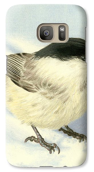 Chilly Chickadee Galaxy Case by Sarah Batalka