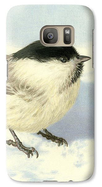 Chilly Chickadee Galaxy S7 Case by Sarah Batalka