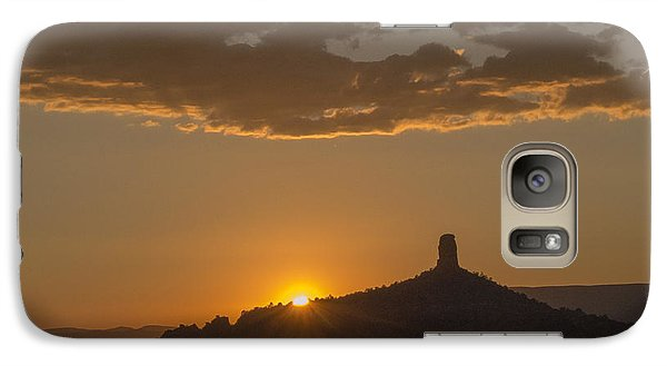 Galaxy Case featuring the photograph Chimney Rock Sunset by Laura Pratt