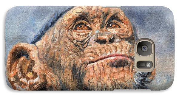 Chimp Galaxy S7 Case by David Stribbling