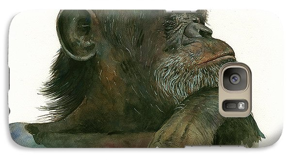 Chimp Portrait Galaxy S7 Case
