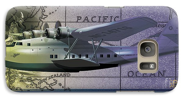 Galaxy Case featuring the drawing China Clipper Chasing The Sun by Kenneth De Tore