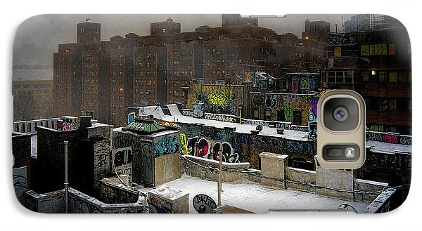 Galaxy Case featuring the photograph Chinatown Rooftops In Winter by Chris Lord