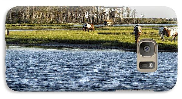 Chincoteague Ponies On Assateague Island Galaxy S7 Case