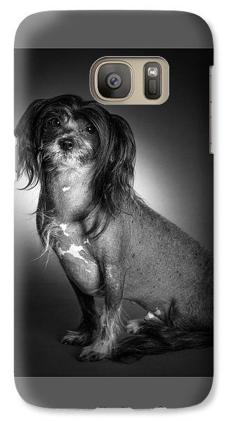Galaxy Case featuring the photograph Chinese Crested - 01 by Larry Carr