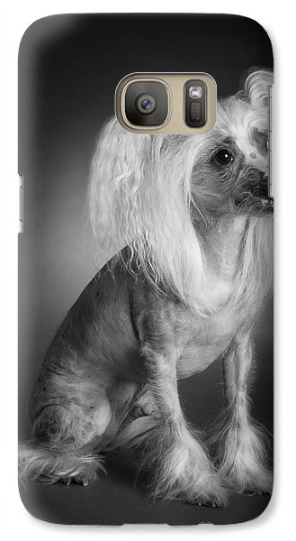 Galaxy Case featuring the photograph Chinese Crested - 03 by Larry Carr