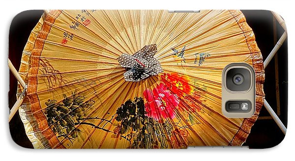 Galaxy Case featuring the photograph Chinese Hand-painted Oil-paper Umbrella by Yali Shi