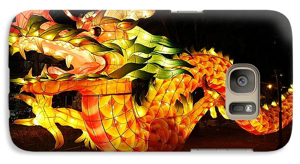 Galaxy Case featuring the photograph Chinese Lantern In The Shape Of A Dragon by Yali Shi