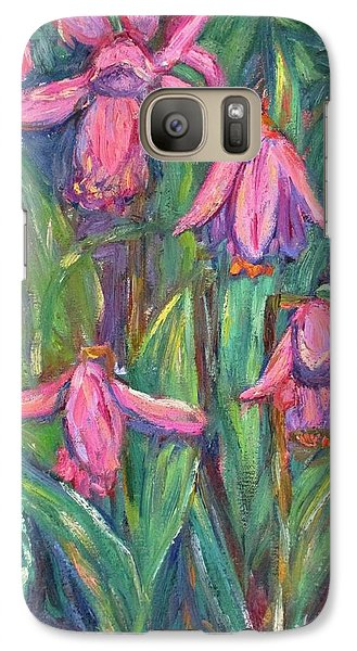 Galaxy Case featuring the painting Chinese Orchids by Kendall Kessler