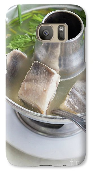 Galaxy Case featuring the photograph Chinese Silver Pomfret Soup by Atiketta Sangasaeng