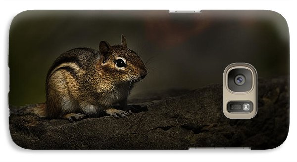 Galaxy Case featuring the photograph Chipmunk On Rock by Michael Cummings