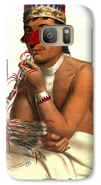 Galaxy Case featuring the photograph Chippeway Chief 1836 by Padre Art