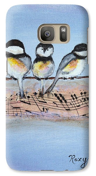 Chirpy Chickadees Galaxy S7 Case by Roxy Rich