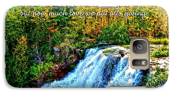 Galaxy Case featuring the photograph Chittenango Falls, Ny Mother Teresa  by Diane E Berry
