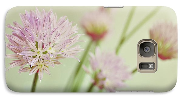 Galaxy Case featuring the photograph Chives In Flower by Lyn Randle