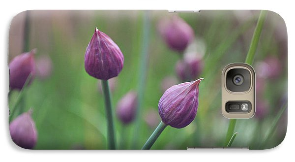 Galaxy Case featuring the photograph Chives by Lyn Randle