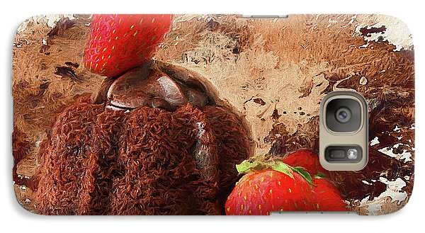 Galaxy Case featuring the photograph Chocolate Explosion by Darren Fisher