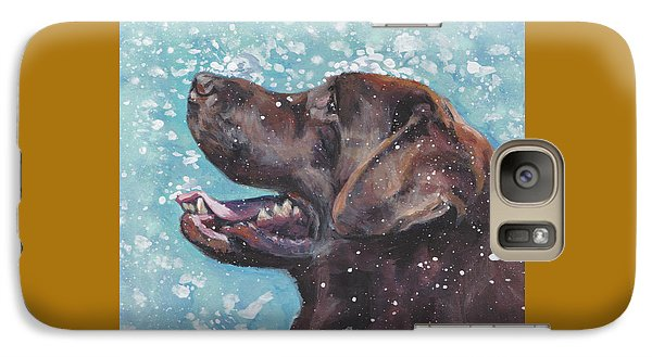 Galaxy Case featuring the painting Chocolate Labrador Retriever by Lee Ann Shepard