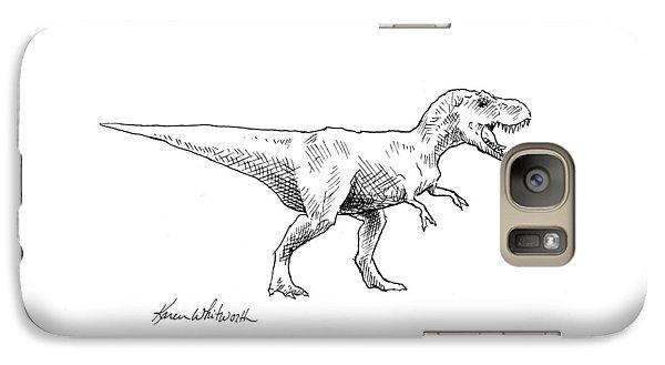Tyrannosaurus Rex Dinosaur T-rex Ink Drawing Illustration Galaxy S7 Case
