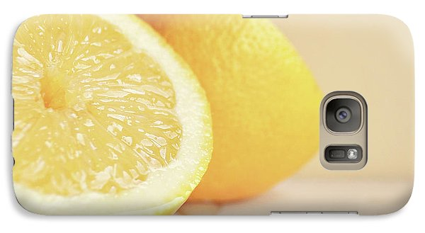 Galaxy Case featuring the photograph Chopped Lemon by Lyn Randle