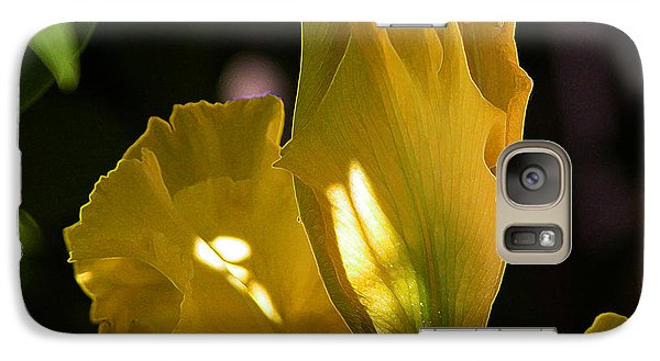 Galaxy Case featuring the digital art Yellow Iris by Stuart Turnbull