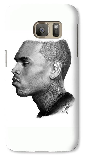 Galaxy S7 Case - Chris Brown Drawing By Sofia Furniel by Jul V