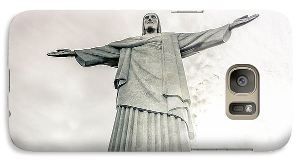 Galaxy Case featuring the photograph Christ The Redeemer by Andrew Matwijec