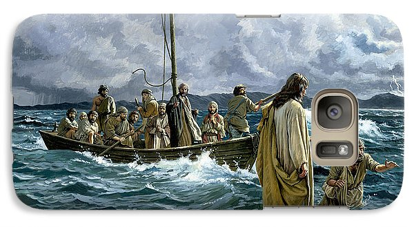 Religion Galaxy S7 Case - Christ Walking On The Sea Of Galilee by Anonymous