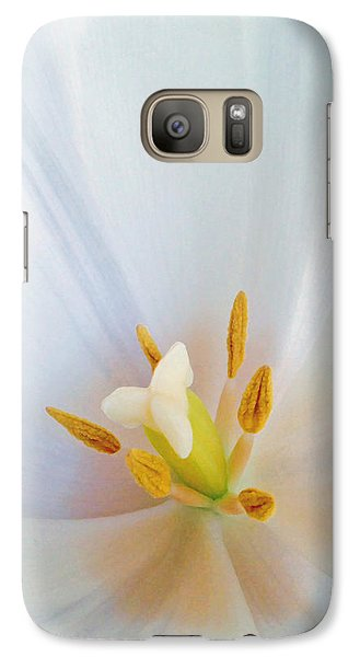 Galaxy Case featuring the photograph Christened Tulip by Gwyn Newcombe