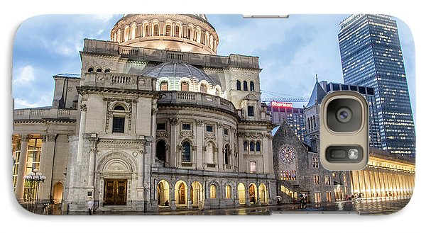 Galaxy Case featuring the photograph Christian Science Center In Boston by Peter Ciro