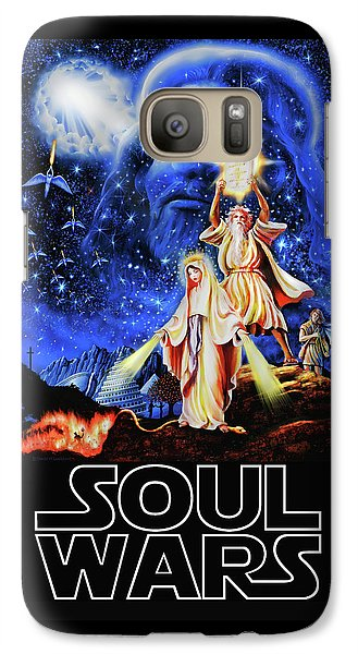 Galaxy Case featuring the painting Christian Star Wars Parody - Soul Wars by Dave Luebbert