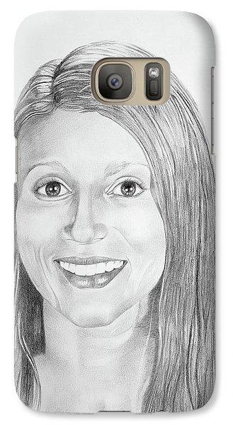 Galaxy Case featuring the drawing Christina by Mayhem Mediums