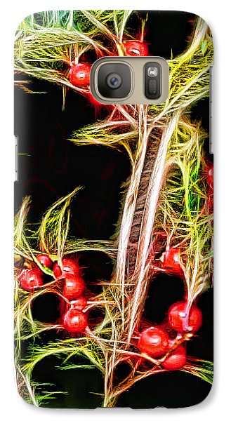 Galaxy Case featuring the photograph Christmas Berries by EricaMaxine  Price